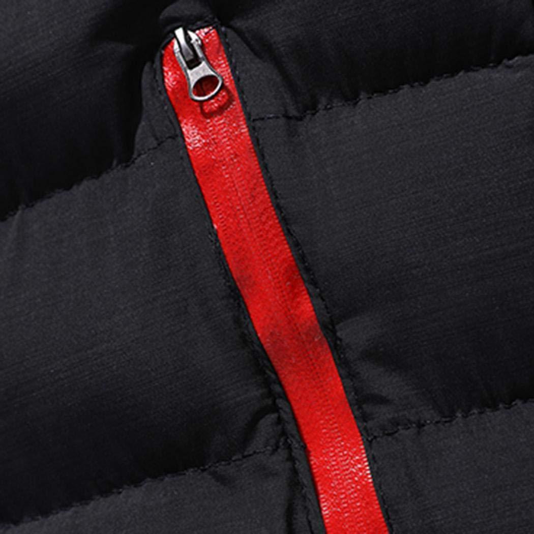 gensit Manteau Chaud pour Hommes avec Manches Longues et col Montant Manteaux Noir