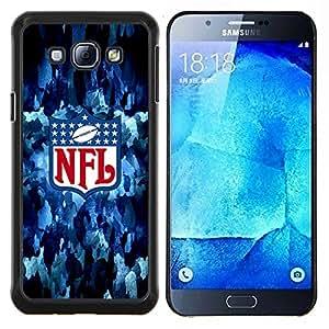 Hockey N F L NFL- Metal de aluminio y de plástico duro Caja del teléfono - Negro - Samsung Galaxy A8 / SM-A800