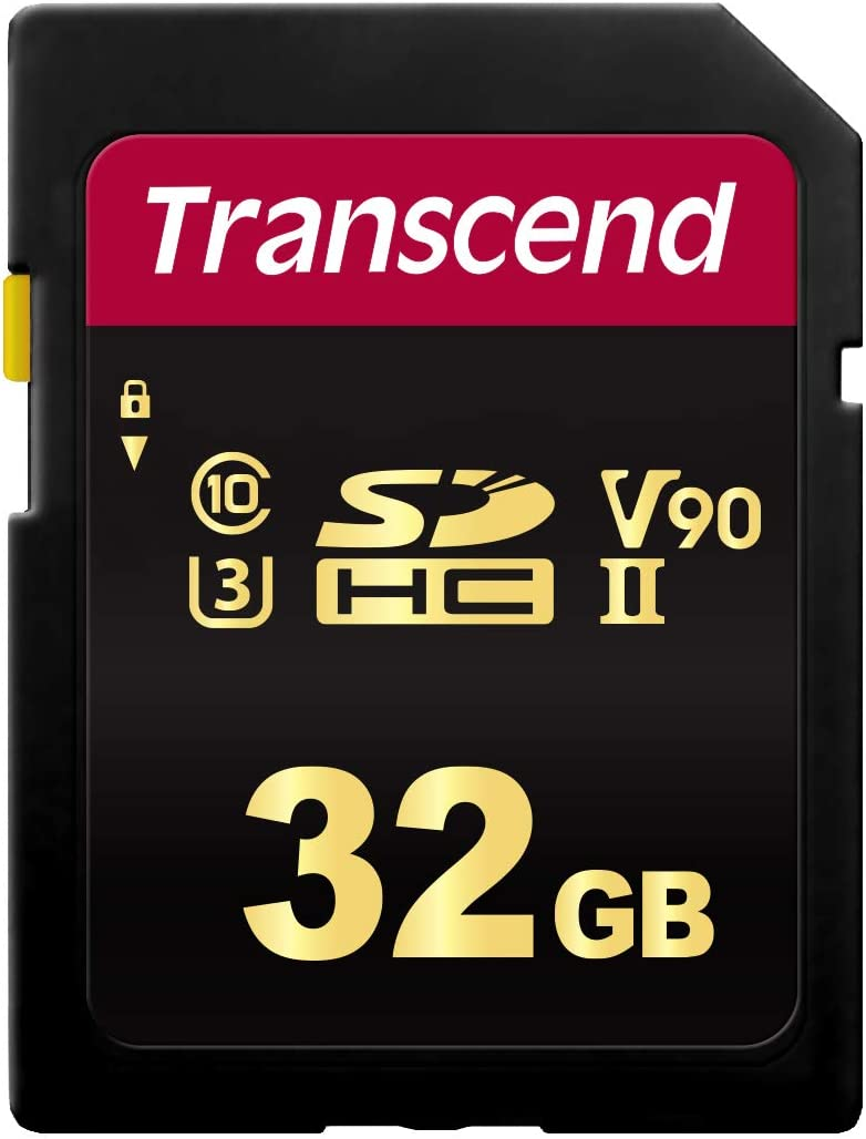 This is an image of the Transcend 32gb camera memory card.