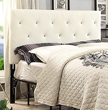bbb3e0952158 Amazon.com - AC Pacific Contemporary Crystal Diamond Tufted Headboard