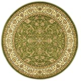 Safavieh Lyndhurst Collection LNH219B Traditional Oriental Sage and Ivory Round Area Rug (8′ Diameter)