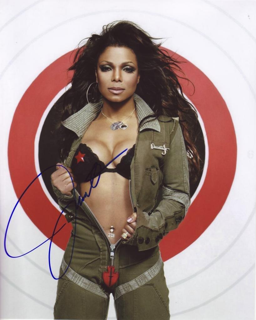 Janet Jackson Autograph Signed 8 x 10 Photo