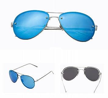 Mode-Rahmenlose Sonnenbrille Herren-Sonnenbrille Sonnenbrille mit Sonnenbrille , Schwarze Schwarze Grenze
