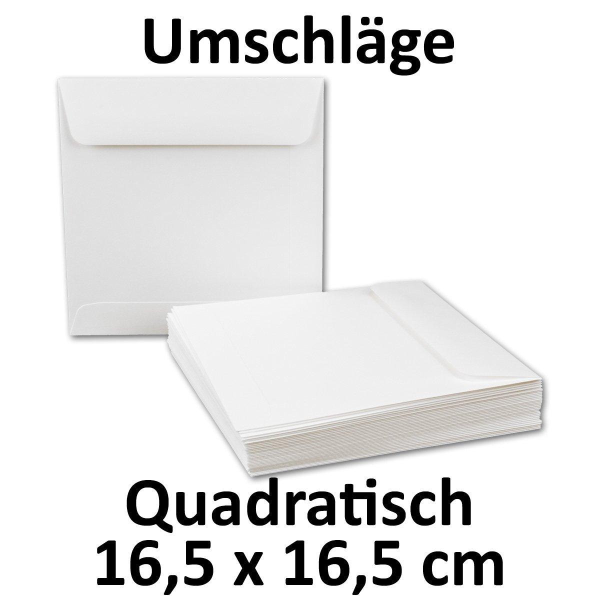Briefumschläge Quadratisch 220 x x x 220 mm - Weiß   150 Stück   EXTRA QUALITÄT - 100 g m²   22 x 22 cm - Für ganz besondere Anlässe  - Haftklebung - Qualitätsmarke  GUSTAV NEUSER B077GTRSLG | Viele Sorten  78c42a