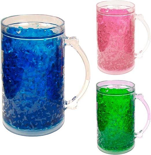 De doble pared taza de Gel congelador 28 Oz vaso de acrílico juego ...
