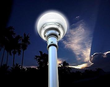 Ecoworld shop lampione ad energia solare esterno e giardino con