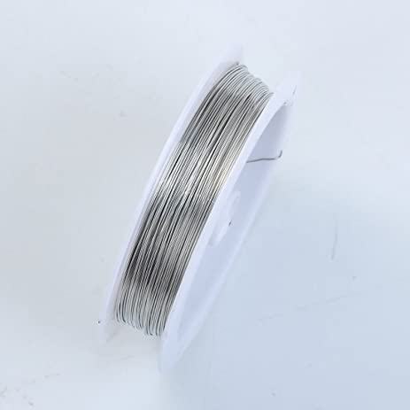 Amazon silver color wire 26 gauge thickness 04mm wsf 101 26g silver color wire 26 gaugethickness 04mm wsf 101 26g greentooth Image collections