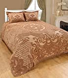 Saral Home Fashions Jewel Chenille Bedspread with Sham, Twin, Beige