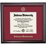 indiana hoosiers diploma frame crimson gray matting embossed seal - Wvu Diploma Frame