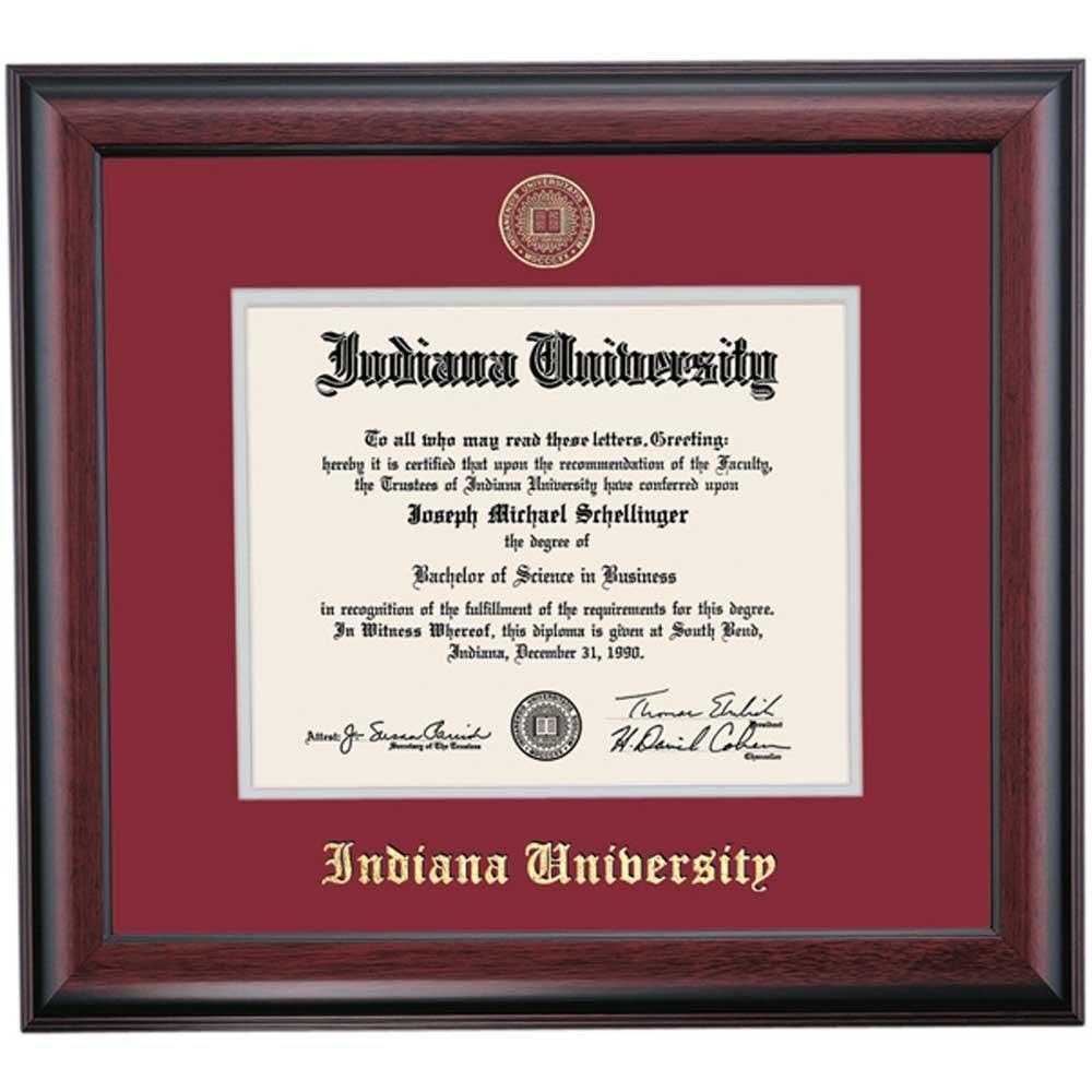 Amazon.com - Indiana Hoosiers Diploma Frame Crimson Gray Matting ...