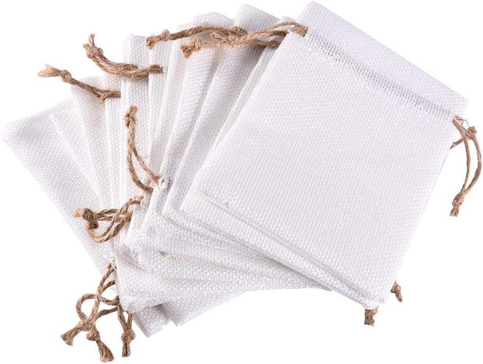 Goforwealth - 12 Bolsas de algodón con cordón, para Regalar y Hacer Manualidades, para Joyas, Bolsas de Regalo