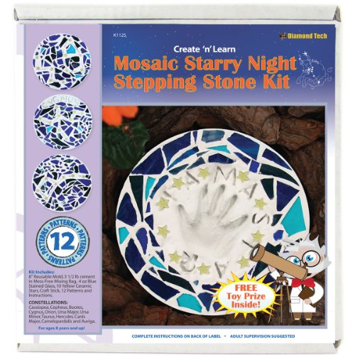 Diamond Tech Create N Learn Mosaic Stepping Stone Kit, Starry Night ()