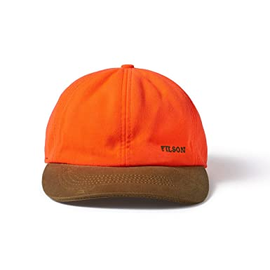 Filson Insulated Blaze Orange Tin Cloth Cap (Tan Blaze Orange 3fea14b88f9