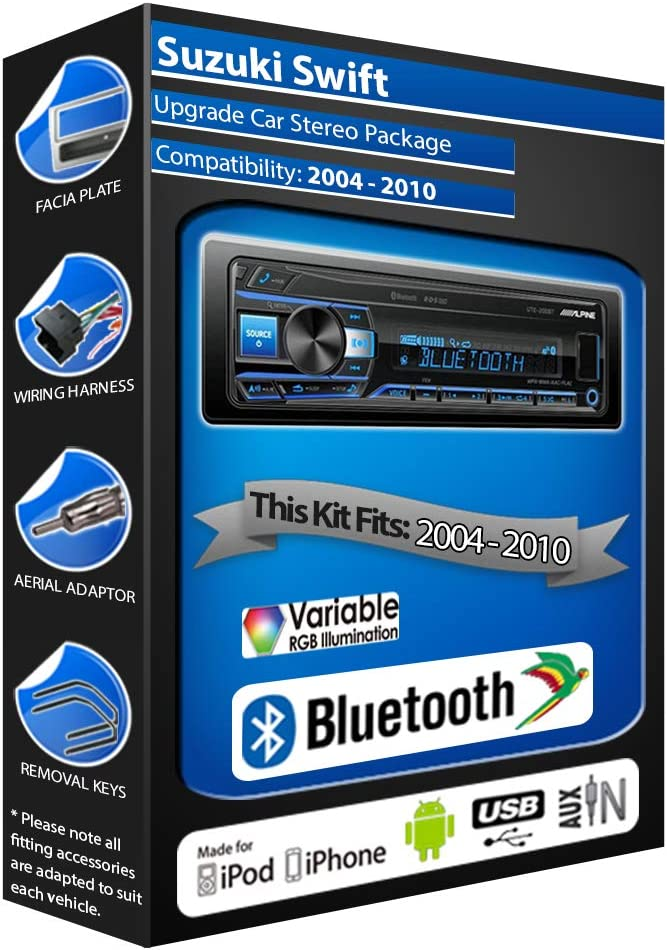 Swift car radio Alpine UTE-200BT Bluetooth Handsfree Mechless Stereo