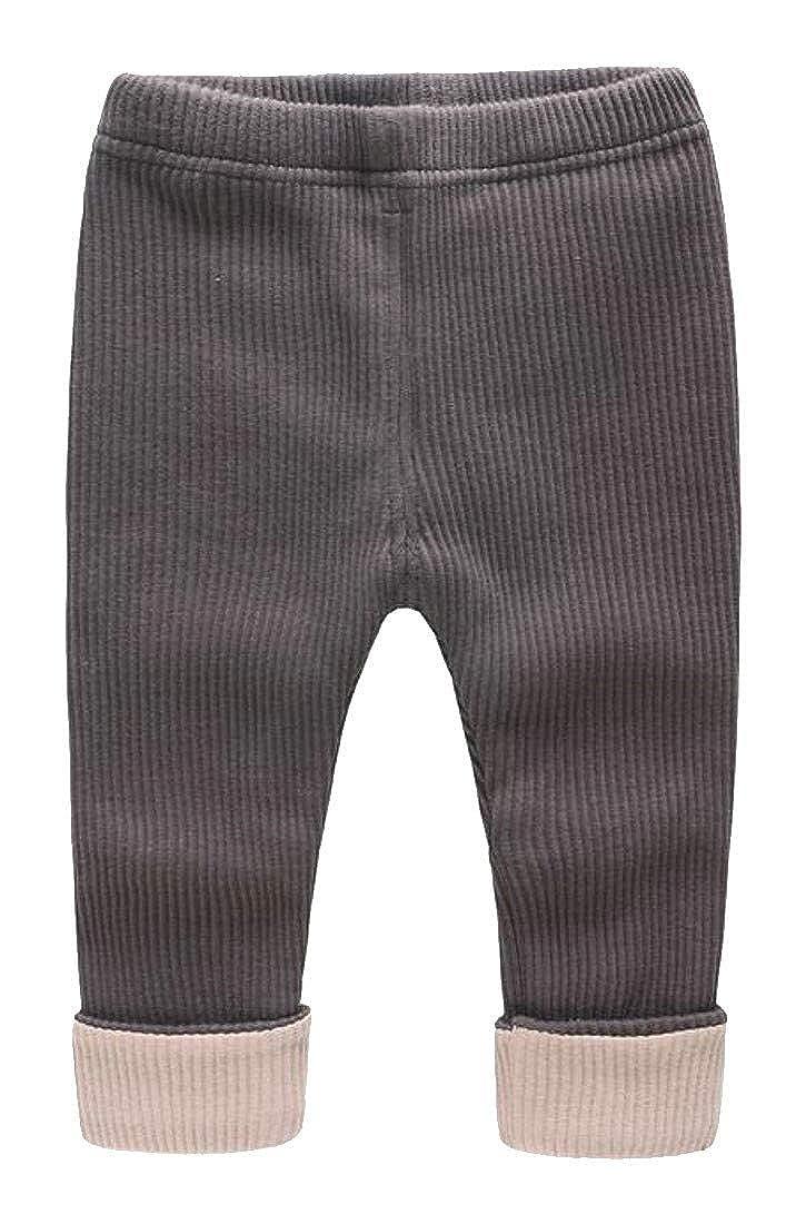 Wofupowga Baby Boy Girl Winter Warm Fleece Elastic Waist Thick Pants