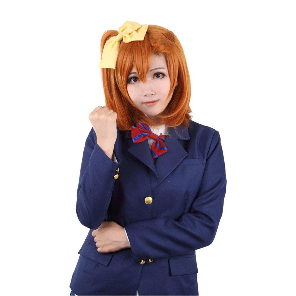 peluca naranja colegiala japonesa