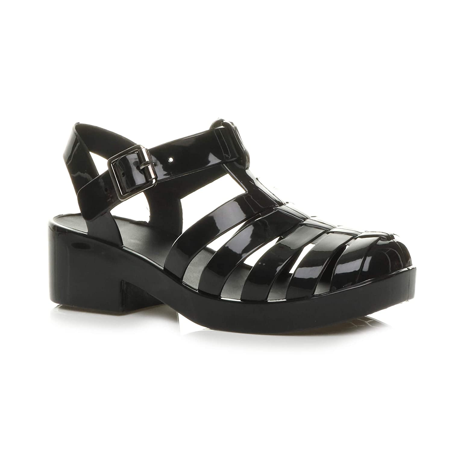 LADIES WOMEN CASUAL FLAT BUCKLE STRAP WORK//SCHOOL  PUMP SHOES SIZE 3-8