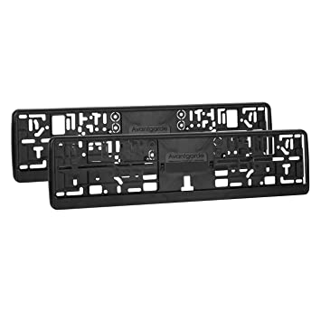 2 x Elastic Flexible Black Number Plate Holders Licence Plate Surrounds Frames ABS PC  sc 1 st  Amazon UK & 2 x Elastic Flexible Black Number Plate Holders Licence Plate ...