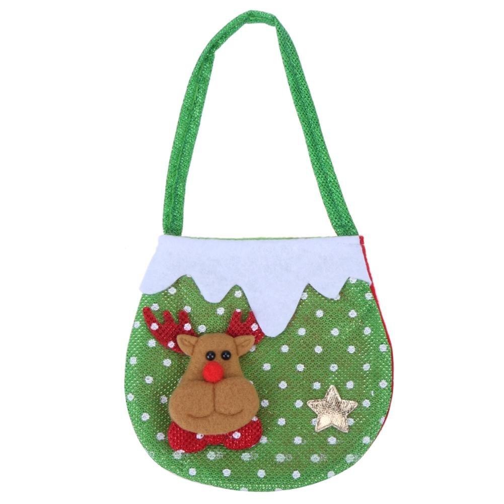 asiproper Innovative Christmas Tree Design Santa Claus Candy Bags Handbags  Home Decor Gift Bags Storage Bag  Amazon.in  Bags 317508abd7bc7