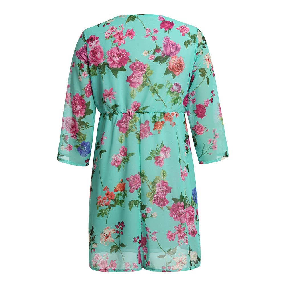 Amazon.com: Womens Nursing Dress, Maternity Casual Loose Floral Printed 3/4 Sleeve Maxi Pregnant Dress Clothes: Clothing