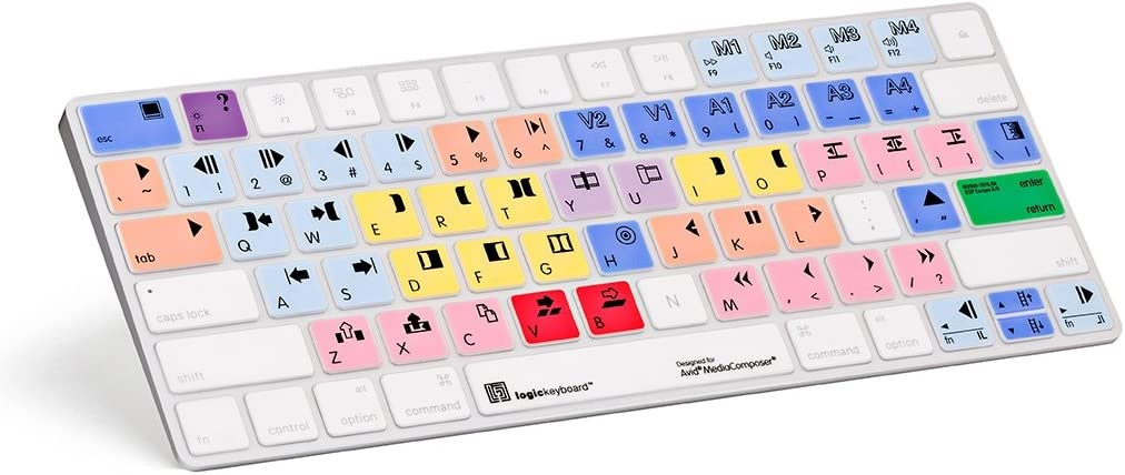 LogicKeyboard Skin Compatible with Apple Avid Media Composer Magic Keyboard - Part Number - LS-MCOM4-MAGC-US