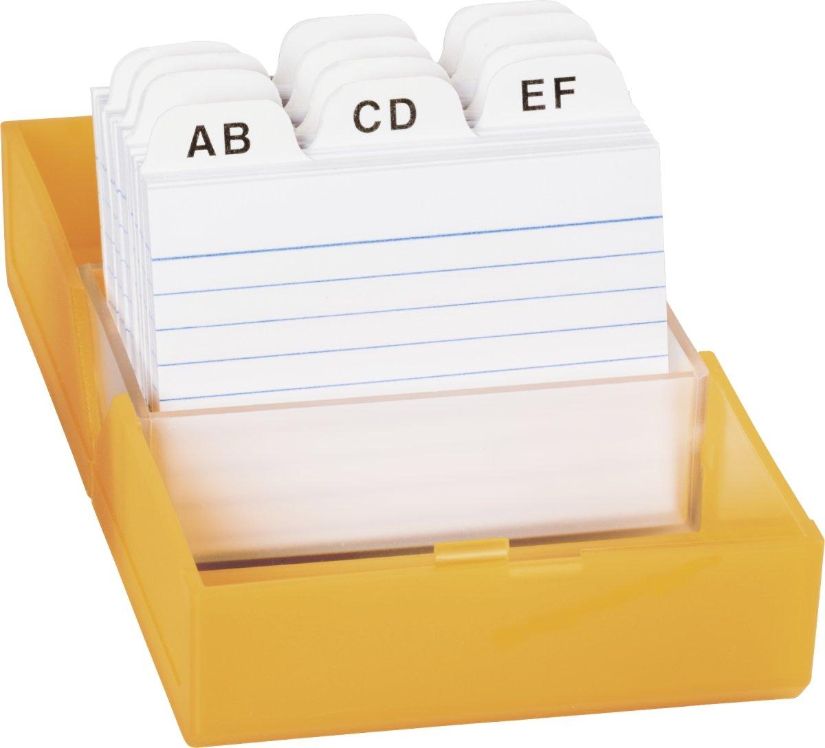f/ür Karteikarten, A7, gef/üllt mit 100 linierten Karteikarten Twinboxx Brunnen 102057580 Karteikasten grau