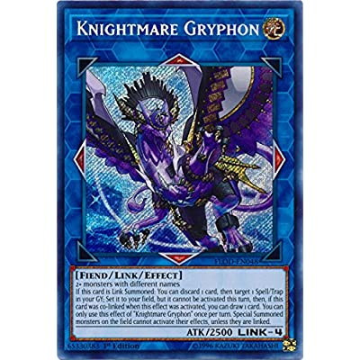 Knightmare Gryphon - FLOD-EN048 - Secret Rare - 1st Edition - Flames of Destruction: Toys & Games