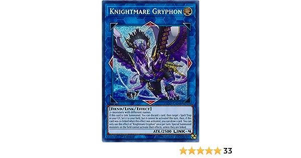 Knightmare Gryphon Secret Rare 1st Edition FLOD-EN048 NM Yugioh