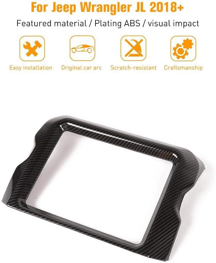 Carbon Fiber JeCar Interior Accessories 8.4 GPS Navigation Panel Cover Dashboard Decor for 2018-2020 Jeep Wrangler JL JLU Rubicon
