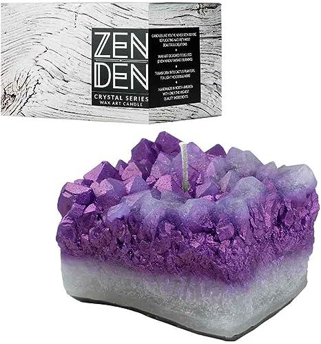Calming Crystal Amethyst Candle Holder Purple Amethyst
