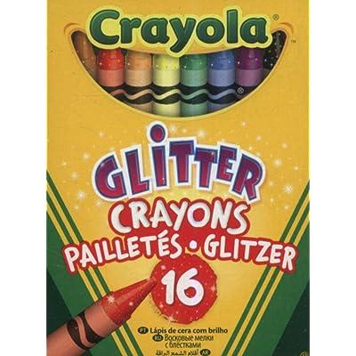 Crayola Bulk Buy Glitter Crayons 16/Pkg 52-3716 (6-Pack): Toys & Games [5Bkhe0202977]