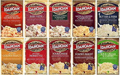IDAHOAN Flavored Mashed Potatoes 4- Oz. 10- Pc. Assortment