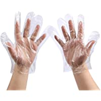 Upgraded Disposable Food Prep Gloves - 500 Piece Plastic Food Safe Disposable Gloves for Kitchen Cooking Cleaning Food…