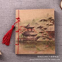 MEICHEN-Vellum antique Chinese style retro notebooks hand-sewn Notepad,Parting at the mo