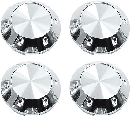 X AUTOHAUX Universal Black 68mm Car Wheel Center Hub Caps Cover with Badge Sticker 4pcs