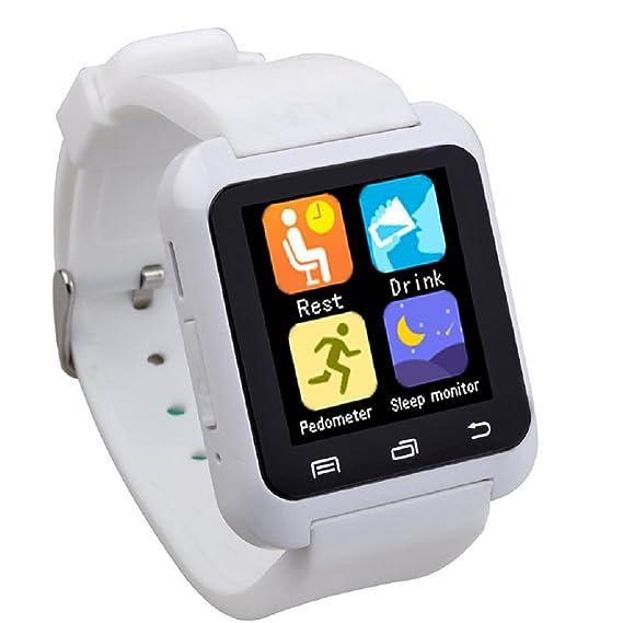 zolimx U80 inteligente deporte sano Bluetooth pulsera reloj Podómetro (blanco)