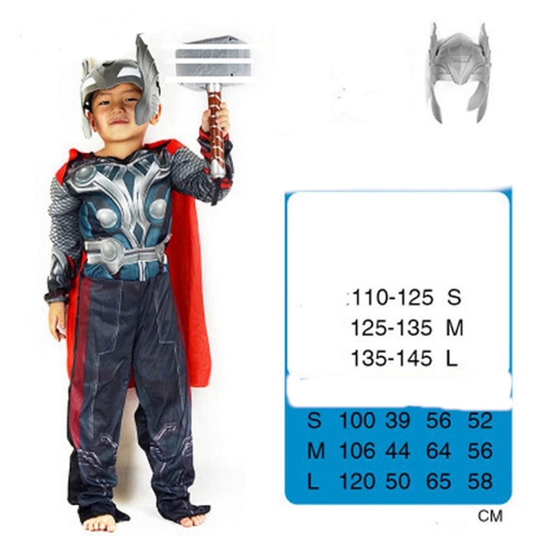 pequeños monelli Traje Thor Niño Vestido Super héroes de ...