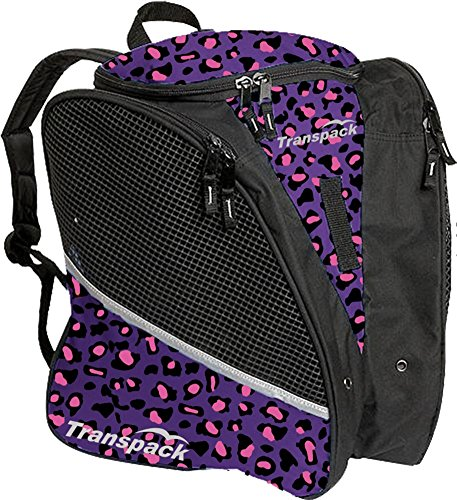 Roller Skate Cases - Transpack Ice with Print Design (Purple/Pink Leopard)