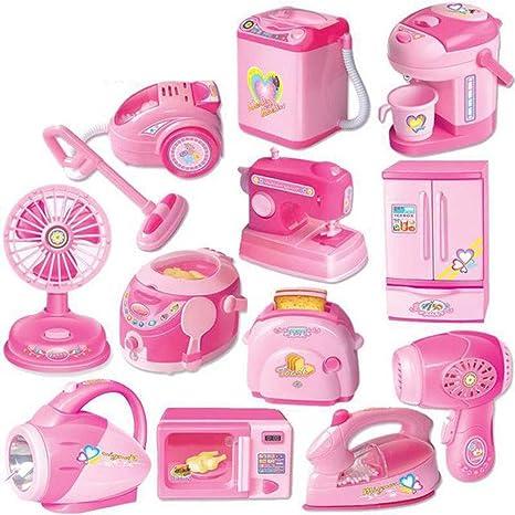 LHTY Set de electrodomésticos para niños Lavadora de Juguetes Aspiradora Máquina de Coser de Hierro para niños Set de Juguetes para niñas Niños: Amazon.es: Deportes y aire libre