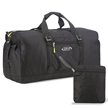 G4Free 60L Lightweight Foldable Portable Travel Duffel Bag For Gym Sports Luggage CampingBlack