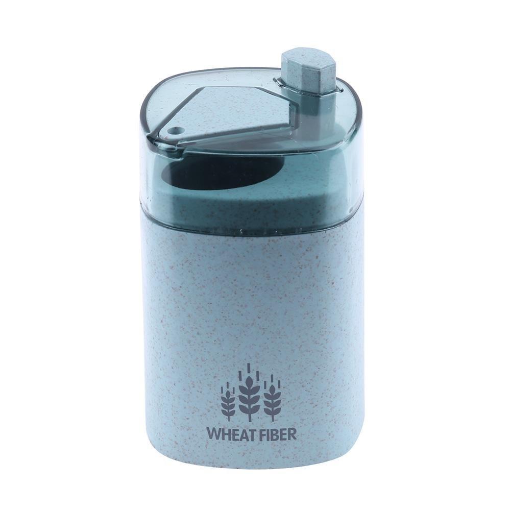 Matefield grano paglia Portable Hand Press stuzzicadenti stuzzicadenti box pranzo. Può Green