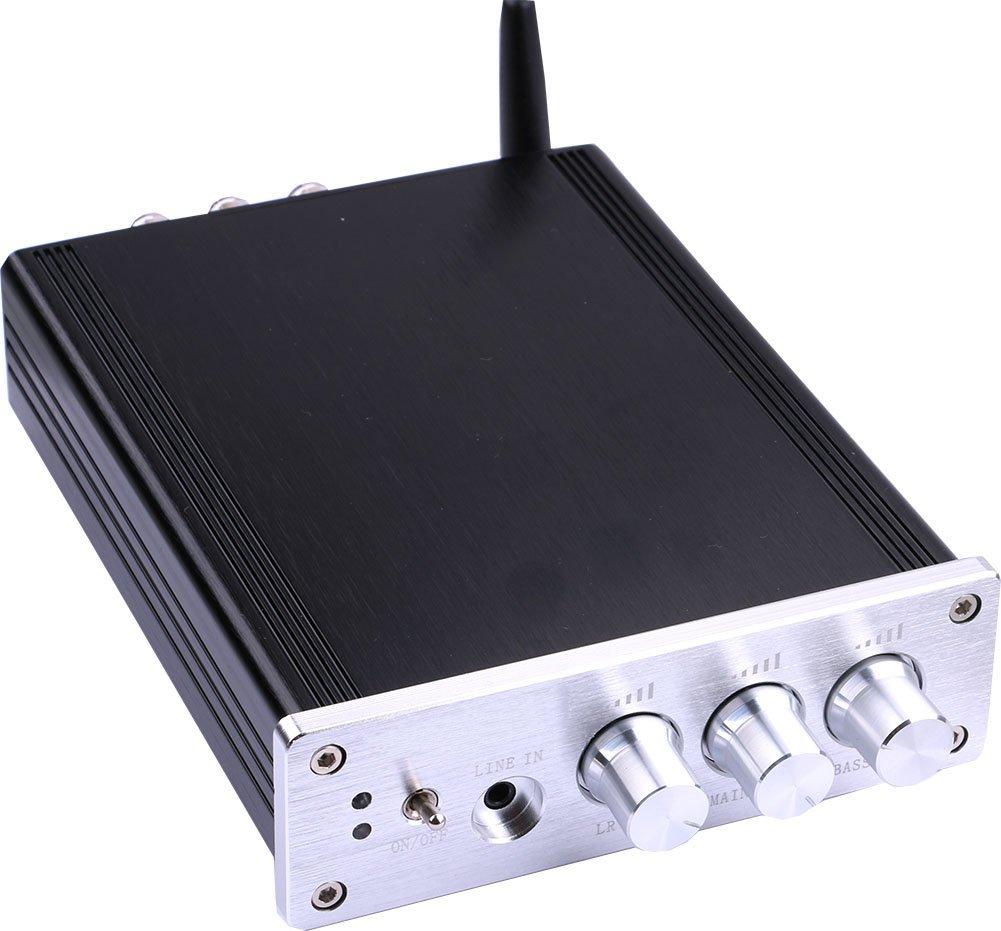 Yeeco® Hifi Mini Bluetooth Amplifier 50W+50W DC 12/24V Wireless Bluetooth Stereo Dual Channel Audio Receiver Power Amp Ampli for Sound Audio System 1600045