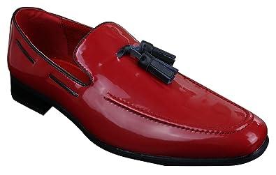 3f438259f34314 Chaussure pour Homme Verni à Pampille Chic et décontractée Convient pour  Toute Occasion: Amazon.fr: Chaussures et Sacs