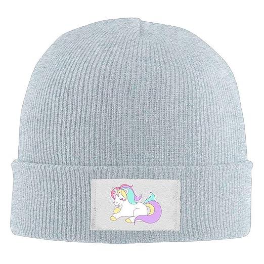 59e0dd7d973 Amazon.com  Hallome Adult Hats Cute Unicorn Men Women Wool Cap Cute Beanies  Knitted Caps Warm Winter Hats  Clothing