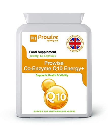 Prowise Co-Enzima Q10 (CoQ10) 300mg 60 cápsulas vegetarianas - Rápida liberación de
