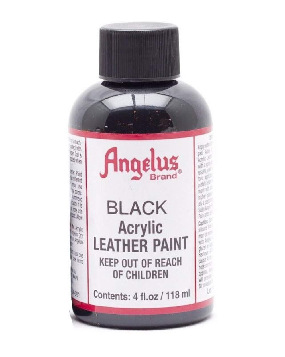 Angelus Leather Paint 4 Oz Black