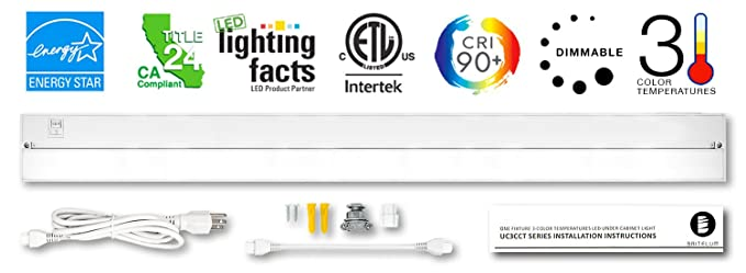 Britelum 40 Inch, 3-in-1 Color Temperature: Dimmable LED Under Cabinet