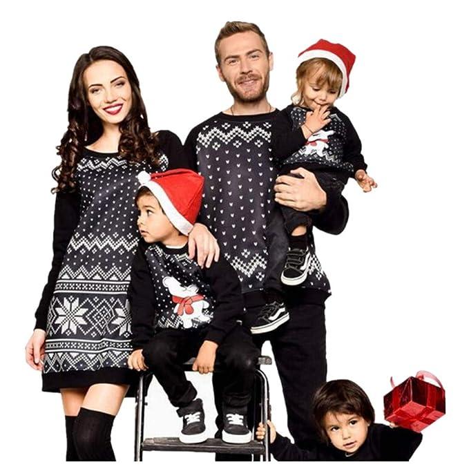 752f8a790e35 Inverlee Men Family Matching Christmas Pajamas PJs Sweatshirt Sleepwear  Nightwear Blouse