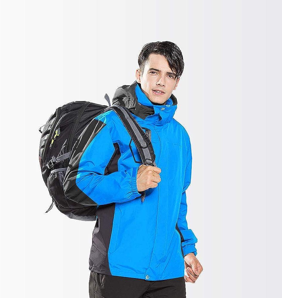 Giacca Softshell Uomo Giacca Impermeabile Outdoor Giacca da Uomo con Cappello Rimovibile Giacca Leggera per Moto,Running,Alpinista,Escursioni,Campeggio,Trekking LUOLUO Giacca a Vento Uomo