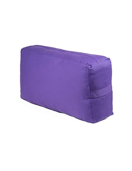 Rectangular Yoga Bolster with Removable Canvas Cover: 13